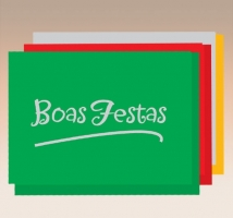 Boas Festas - Hot Stamping s/texto- embal. c/ 10 unid.