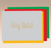 Feliz Natal - Hot Stamping s/texto- embal. c/ 10 unid.