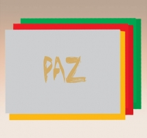 Paz - Hot Stamping s/texto- embal. c/ 10 unid.