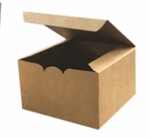 Box Burger Kraft c/100 unid. - ideal para fast food, food truck e lanchonetes - hambúrguer gourmet -