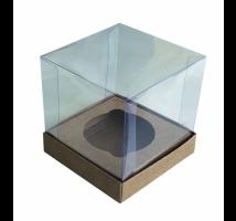 Caixa para 1 Cupcake - Embal. c/ 10 unid. em kraft com berço para encaixe - indicado para lembranças