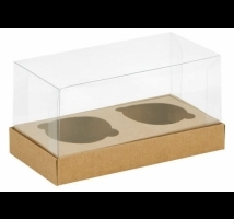 Caixa para Cupcake - Embal. c/ 10 unid. em kraft com berço para encaixe - indicado para lembranças.