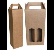 Caixa kraft microondulada para garrafas