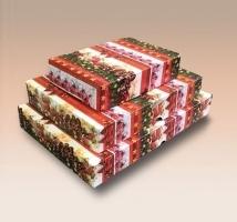 Caixas Flexíveis Natal - Embal. c/ 12 unid. Sortidas