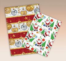 Folhas de Papéis para Presente Couché Natal